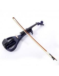 "LJ1 4/4"" Basswood Electric Violin   Case   Rosin   Head Set   Bow   Connecting Line Purple"