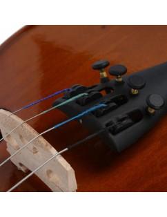 New 1/2 Acoustic Violin Case Bow Rosin Natural