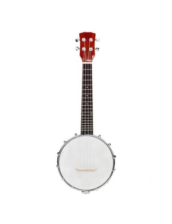 Exquisite Professional 4-string Banjo Set Wood Color