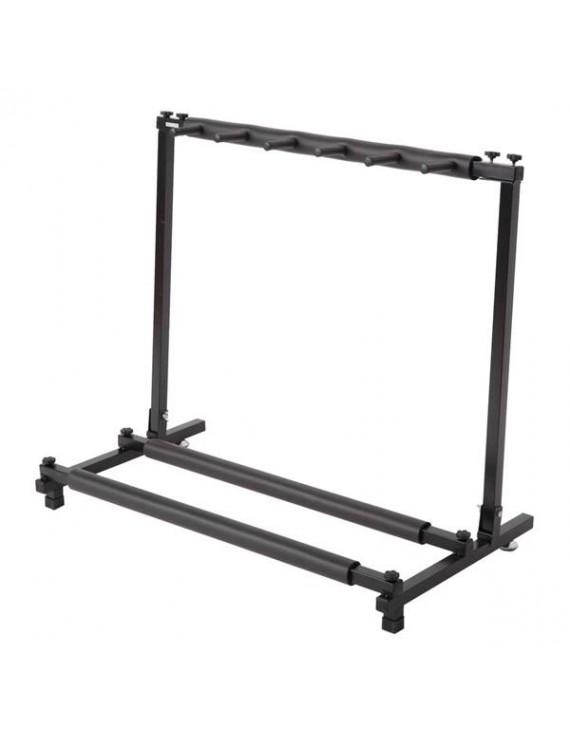 [US-W]Triple Folding Multiple Guitar Holder Rack Stand Black